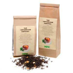 крафт пакеты с логотипом чай